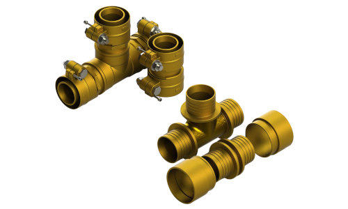 Raccordi a serraggio meccanico e a compressione assiale per sistemi HeatFlex e HeatFlex Sanitario