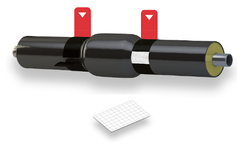 Nastri termorestringenti per sigillatura giunti teleriscaldamento e protezione anticorrosione