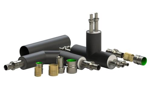Preinsulated fittings for FibreFlex and FibreFlex Pro flexible pipe systems