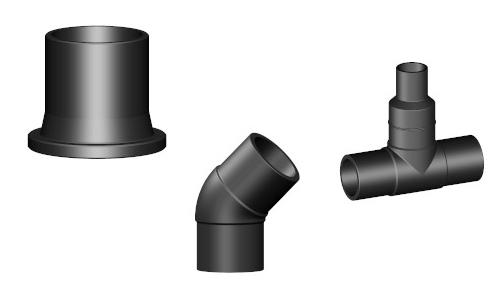 Raccordi testa a testa di polietilene per condotte in pressione di acqua e gas conbustibili