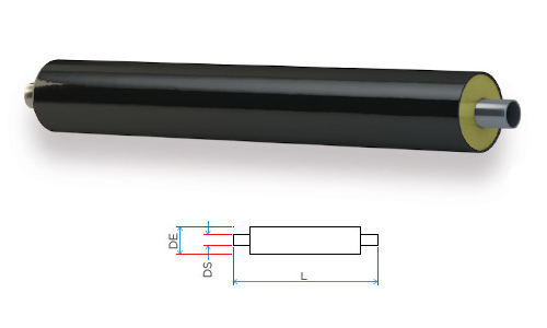 Tubo in acciaio preisolato per condotte di teleriscaldamento sedondo EN 253