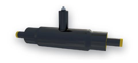 Valvola preisolata in acciaio per condotte di teleriscaldamento secondo EN 253