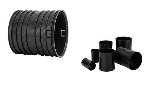 Manicotti HDPE per la giunzione di tubi corrugati per cavidotto e drenaggio