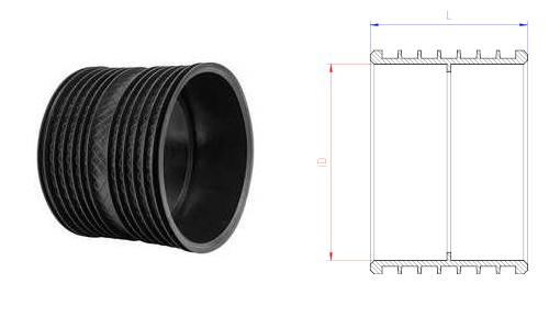 Manicotti HDPE per la giunzione di tubi corrugati doppia parete