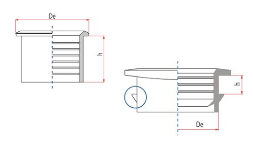 Guarnizioni EPDM ad innesto per condotte corrugate