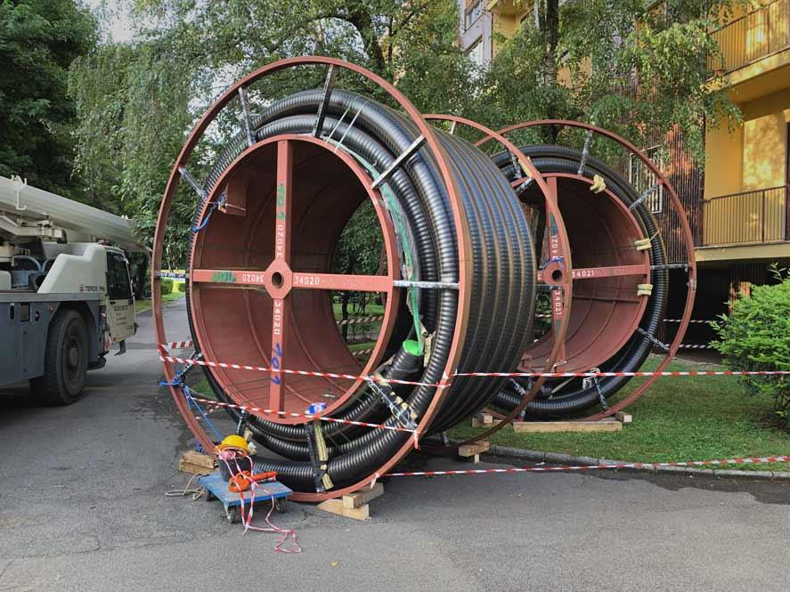 Tubo preisolato FibreFlex Pro 160/225 - tamburi da 125m pronti per la posa