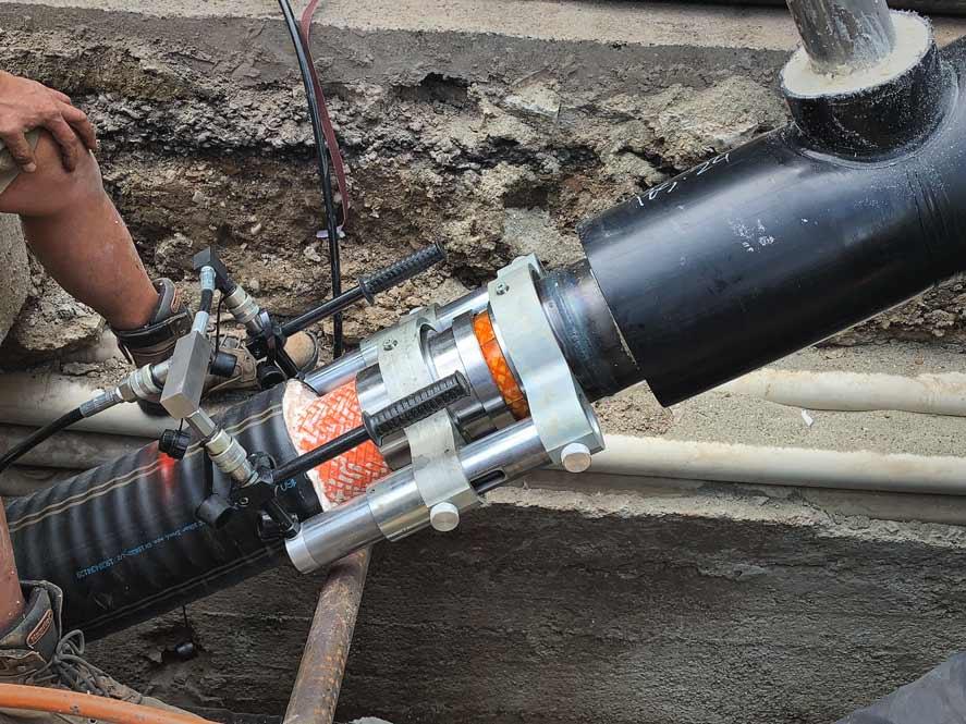 Tubo preisolato FibreFlex Pro 160/225 - giunzione alla derivazione d'utenza