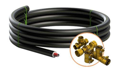 Tubo preisolato flessibile HeatFlex in PEX per applicazioni teleriscaldamento