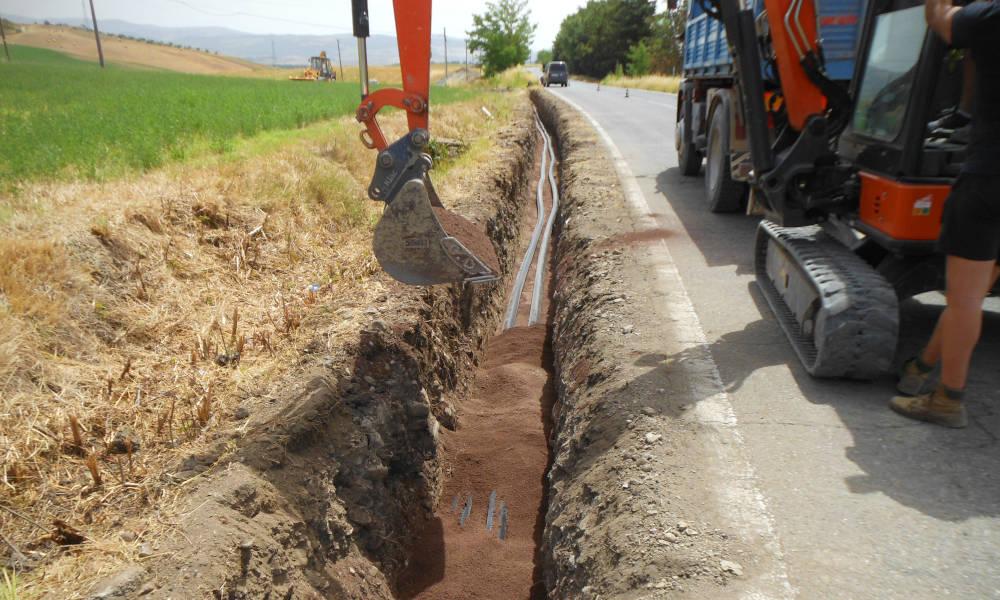 Tubo preisolato flessibile FibreFlex nella rete teleriscaldamento di Piancastagnaio